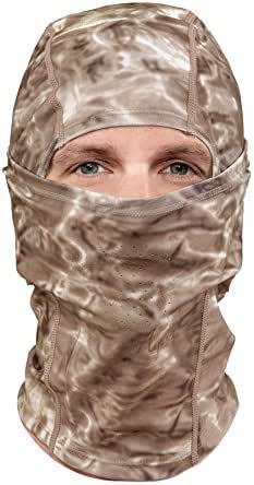 Aqua Design: Cool Weather Mens Face Mask UPF50+ Sun Wind Helmet Liner Balaclava