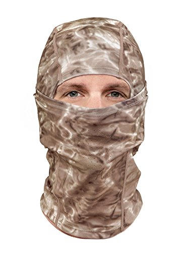 Aqua Design: Cool Weather Mens Face Mask UPF50+ Sun Wind Helmet Liner Balaclava: Pacific Sand