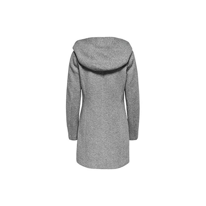 417NwIMUsXL Abrigo de lana con capucha. Abrigo largo de entretiempo. 85% Poliéster, 15% Algodón
