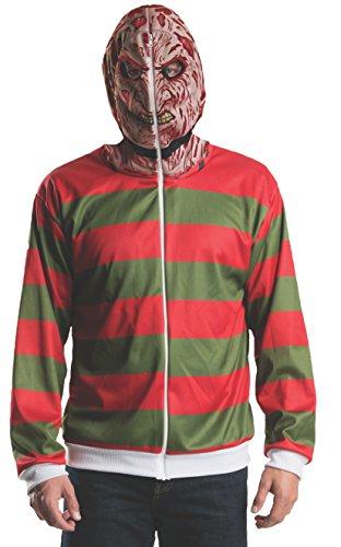 Rubie's Costume Men's Nightmare On Elm Street Freddy Adult Costume Hoodie, Multi, Standard (Scary Freddy Krueger Costume)