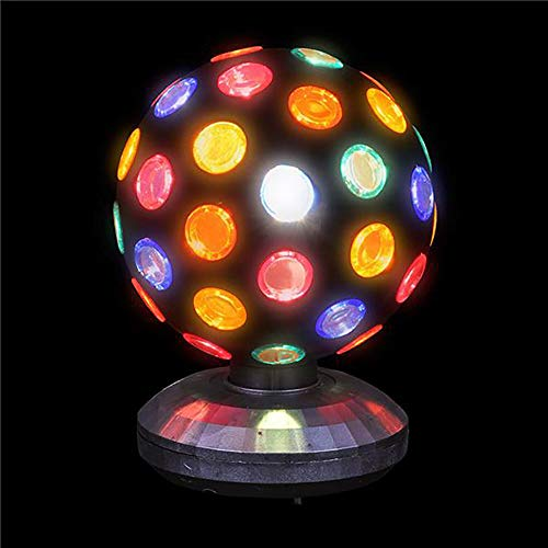 - LED Revolving Strobe Lighting Ball - Perfect for Stage Lights, Birthday Parties, Home Decor, Game Accessories, Stress Reliever, and Party Favor ()