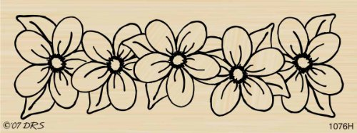 - Flower Border Rubber Stamp By DRS Designs