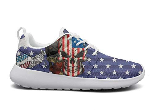 XULANG Casual Sneaker US Dollars The American Flag Sneakers Shoes for Pretty Women