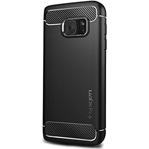 Spigen Rugged Armor Galaxy S7 Case with Resilient Shock Absorption and Carbon Fiber Design for Samsung Galaxy S7 2016 - Black Sales