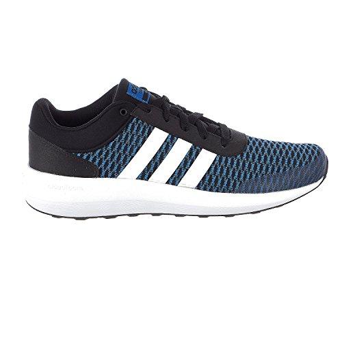 Adidas Sport Race (adidas NEO Men's CF Race Running-Shoes, Black/White/Blue, 10 Medium US)