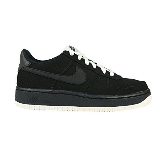 Nike air Force 1 (GS) Trainers 596728 Sneakers Shoes (5.5 M US Big Kid, Black Black sail 027)
