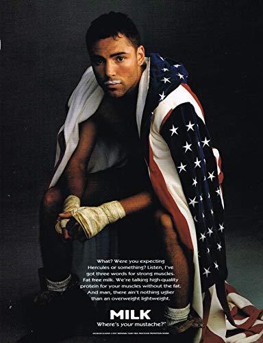 "Oscar De La Hoya - Boxing - Got Milk ? - Magazine Ad - Year 1997-11"" x 8"" Teen Magazine Poster Pinup Clipping"
