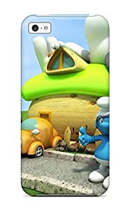 Smurf 3d Case Compatible With Iphone 5c/ Hot Protection Case