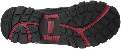Skechers for Work Men's Delleker Wide Work Boot,Black/Red,11 W US