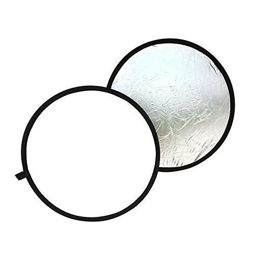 TARION 촬영용 원형 반사판 직경 60cm / 80cm / 108cm 접이식 실버 & 화이트 청소포 포함