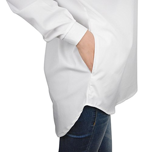 Top V Chemise Femme Tunique Robe Blouse Manches Mousseline Col 40 blanc L Longues EU UqfqxT8wY