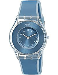 Womens SFS103 Skin Analog Display Swiss Quartz Blue Watch