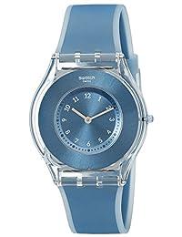 Swatch Women's SFS103 Skin Analog Display Swiss Quartz Blue Watch
