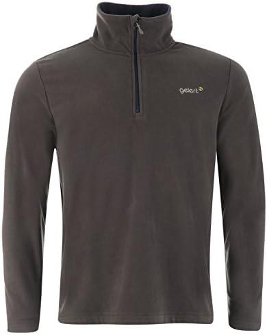 Gelert Mens Atlantis Micro Fleece Quarter Zip Top Sweatshirt Jumper Long Sleeve