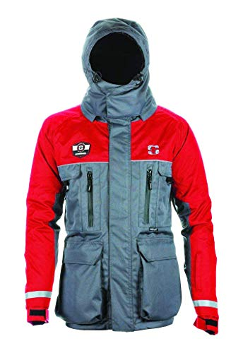 (Striker ICE SI HardWater Jacket, Gray/Red,)