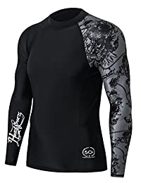 HUGE SPORTS Men's Splice UV Sun Protection UPF 50+ Skins Rash Guard