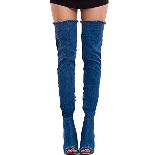 Foncé Bleu Femme Bottes Pour Toocool nWBzY48RY