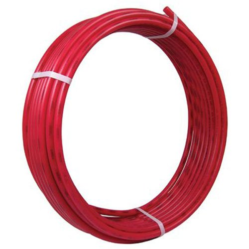 SharkBite PEX Pipe Tubing 1/2 Inch, Red, Flexible Water Tube, Potable Water, Push-to-Connect Plumbing Fittings, U860R300, 300 Foot (Copper Tubing Prices)