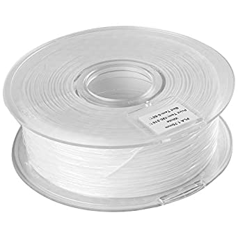 Filamento Pla 1,75 mm, bobina blanca de 1 kg (2,2 libras ...