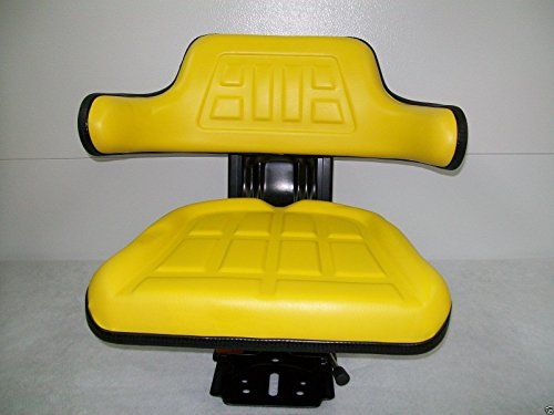 Yellow Waffle Style Universal Tractor Suspension Seat, Multi-Angle Base for John Deere 2140, 2150, 2155, 2240, 2255, 2320, 2350, 2355, 2440, 2940, 2950, 2955, 3030, 3040(FAST & FREE DELIVERY!) #IE60 (John 110 Deere Tractor)