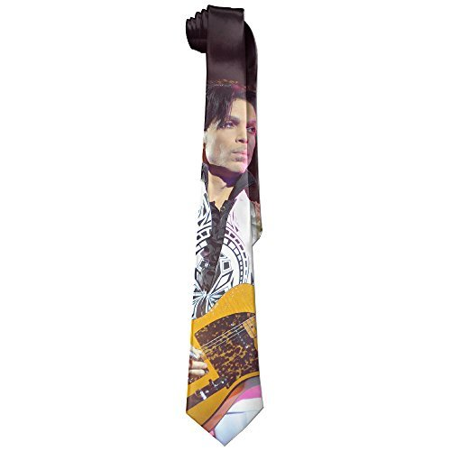 Singer Prince Costumes (Mens Forever Prince Guitar Sing Leisure Wide Tie Necktie Costume Accessory Fashion Design)