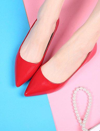 PDX/femme Chaussures Talon Plat Ballerine/Bout Pointu/Bout fermé appartements Robe Noir/rouge/beige
