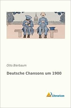 Book Deutsche Chansons um 1900