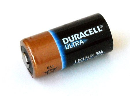 Duracell Ultra DL123A (CR123A) 3V Lithium Battery Duracell Ultra Lithium Battery
