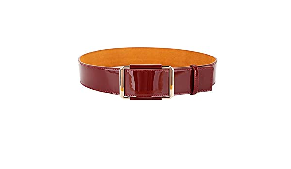 Cinturón Ancho para Mujer Cinturón Ancho de Charol con Hebilla de ...