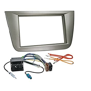 KIT de montaje para radio de coche con marco de radio 2 DIN para SEAT ALTEA y ALTEA XL/TOLEDO, color GRIS: Amazon.es: Electrónica