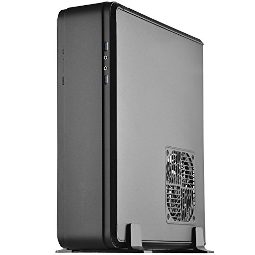 SilverStone Technology SST-FTZ01B-E Aluminum Unibody ITX Small Form Factor Computer Case with PCI-E Riser and ATX PSU Support Black