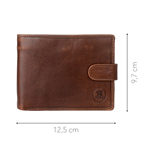 History Coin Card D Secure men for Pocket ~ Button Pelle Nuvola Leather and Holders Zip amp; with Genuine Snap Closure in Wallet qH76pF