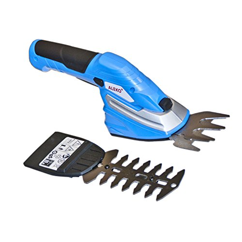 ALEKO AP213BLUE 2 In 1 Combo Cordless Compact Grass Shrub Shear Trimmer