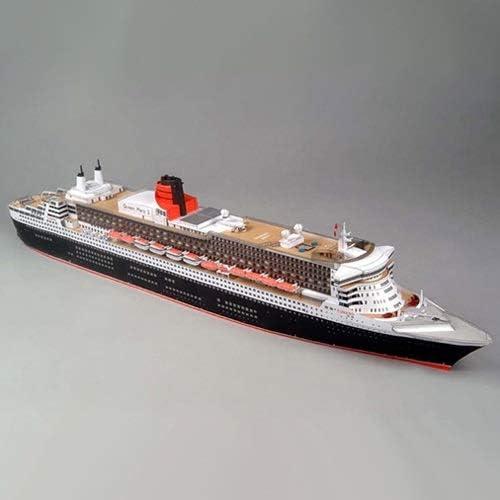 ELVVT 1:400英国のクイーンメリーIIクルーズ船のモデル手作りの高難易度の軍事ファン子供大人用DIYペーパーアート模型玩