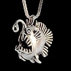 89900405d Angler Fish Necklace Angler Fish Charm Fish Jewelry Fish Pendant Fish Charm.
