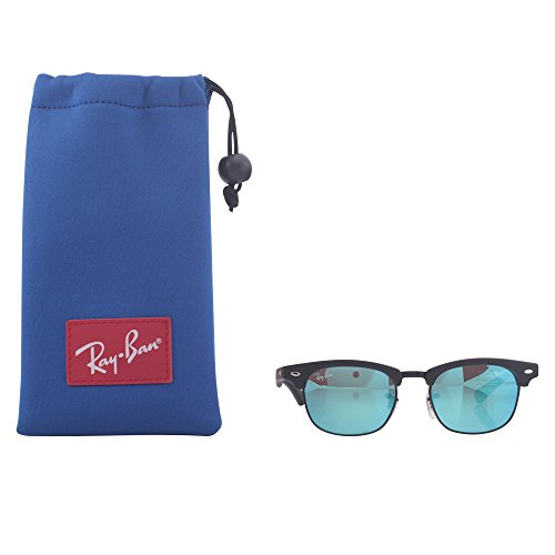 Ray-Ban Junior RJ9050S Clubmaster Kids Square Sunglasses, Blue, 45 ()