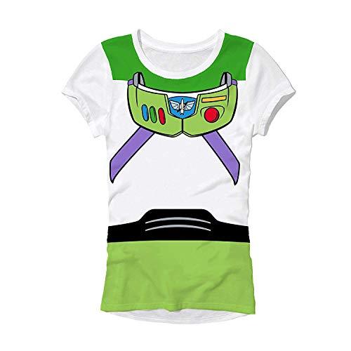Disney Pixar Buzz Lightyear Costume Juniors T-Shirt ... (Extra Large, White)]()