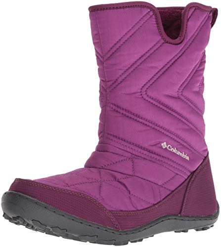 Columbia Girls' Youth Minx Slip III Snow Boot, Intense Violet, Fawn, 6 Regular US Big Kid ()