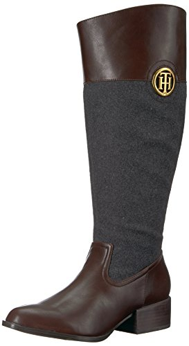 Stivale Equestre Tommy Hilfiger Womens Madeln-wc Marrone / Antracite