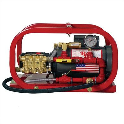 Rice Hydro EL2 Hydrostatic Test Pump, Electric Plunger Pump, 1.5 gpm Up to 1000 psi, Pressure Testing, 1 hp