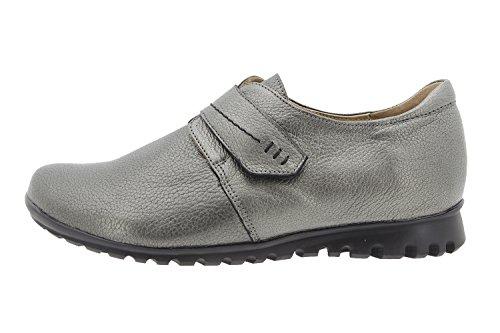 Calzado mujer confort de piel Piesanto 9526 zapato velcro casual cómodo ancho Verde