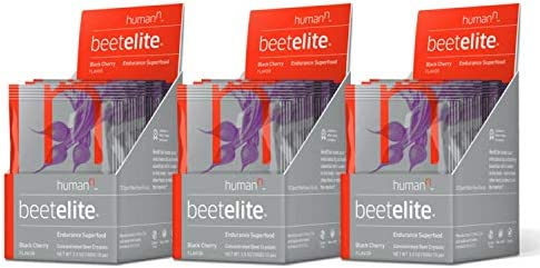 HumanN BeetElite Superfood Concentrated Beet Powder Nitric Oxide Boosting Athletic Endurance Supplement Black Cherry Flavor, 0.35-Ounce, 30 Packets