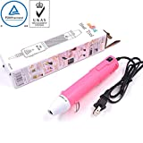 mofa Embossing Heat Pen,Mini Heat Gun,Hot Air Pen Tools Shrink Pen with Stand For DIY Embossing And Drying Paint Multi-Purpose Electric Heating Nozzle 130W 110V (Pink,White)