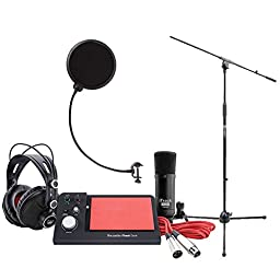 Focusrite iTrack Dock Studio Pack with Mic Stand and Microphone Pop Filter
