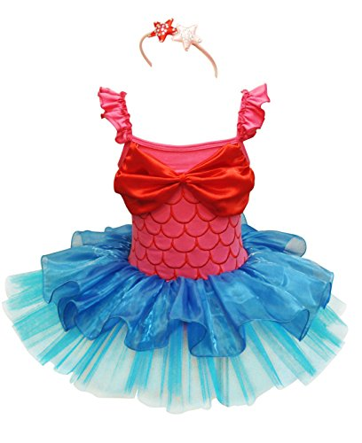 YiZYiF Girls Kids Ballet Christmas Birthday Dance Tutu Dress Up Headband (Fish Ballet Costume)