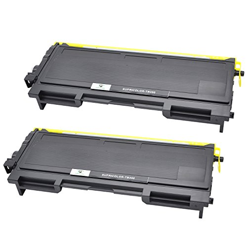 Supricolor Brother TN350 Toner Cartridges 2 Pack, Work for Brother MFC-7420 MFC-7225N MFC-7220 MFC-7820N DCP-7020 HL-2030 HL-2040 HL-2045 HL-2070 IntelliFax 2820 2910 2920 Printers