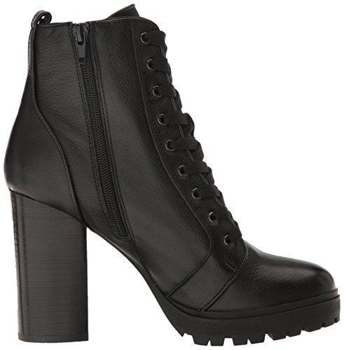 Steve Madden Women's Laurie Combat Boot Black Leather LVArh