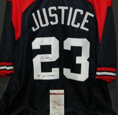Dave Justice Autographed Atlanta Braves Jersey - JSA COA