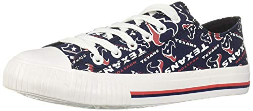 Shoe Texans Houston - FOCO NFL Womens Low Top Repeat Print Canvas Shoe: Houston Texans, Large