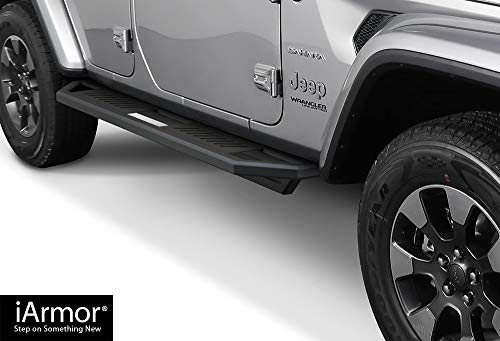 - iArmor Aluminum Side Steps Armor Custom Fit 2018-2020 Jeep Wrangler JL Sport Utility 4-Door (Nerf Bars | Side Steps | Side Bars)